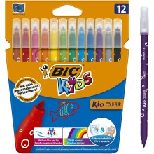 Kids Kid Colour Felt Tip Pens Assorted Colours Pack of 12 Medium Point