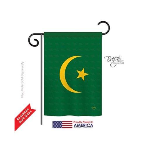 Breeze Decor 58313 Mauritania 2-Sided Impression Garden Flag - 13 x 18.5 in.