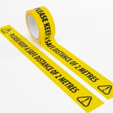 ASAB Social Distancing Floor Tape Yellow 33m x 48mm