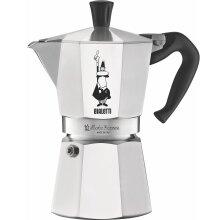 Bialetti Moka Express 6 Cup Stove Top Espresso Coffee Maker Aluminum 0.3L