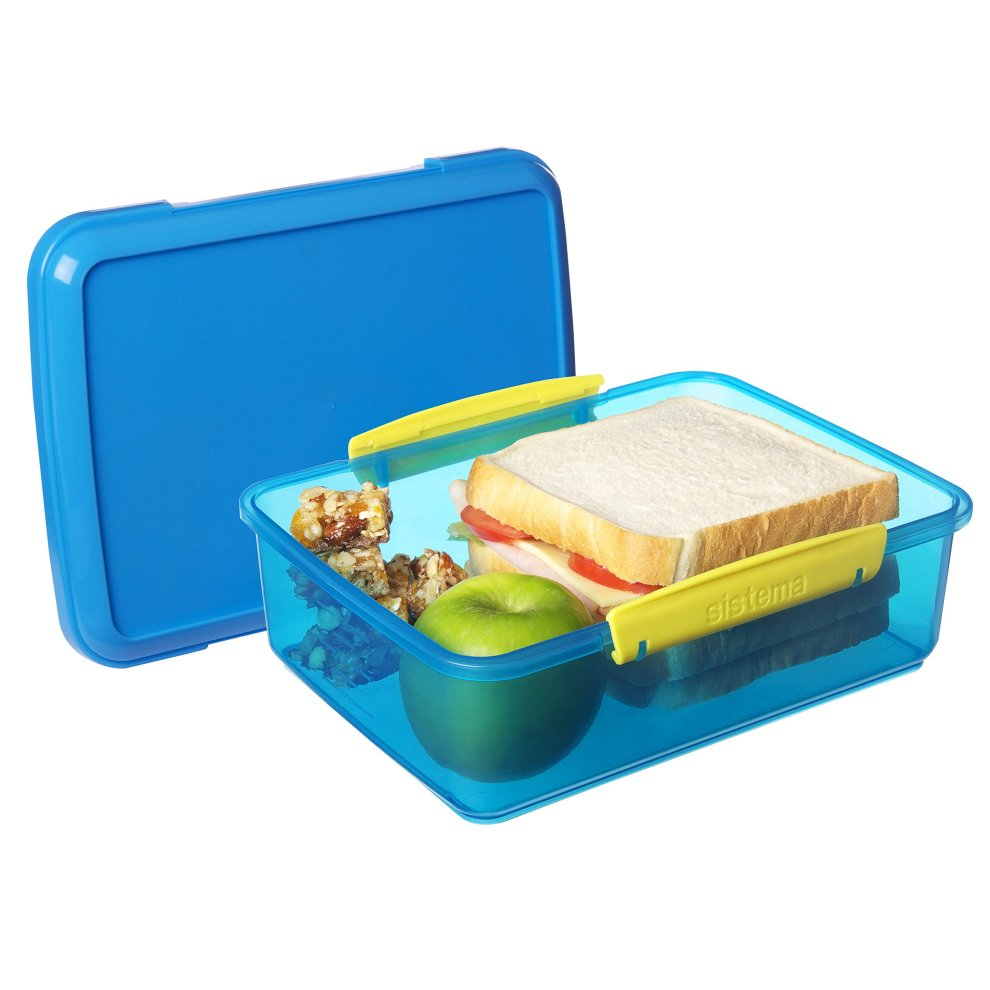 2 L Assorted Colours Sistema Lunch Box