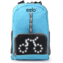 Cycling Backpack - eelo Cyglo Safety Backpack with LED Signal Display - Refurbished