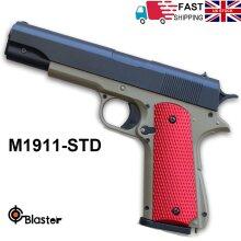 Kids M1911 Gel Ball Shooter Blaster Gun Toy Pistol Soft Water Mag Feed