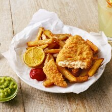 Quorn Frozen Vegan Battered Fishless Chip Shop Style Fillets - 1x2kg