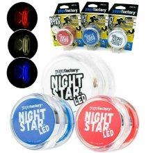 YoYo Factory, White Yoyo Night Star LED Light Up YoYo, Outdoor Indoor Toy, Lights Up