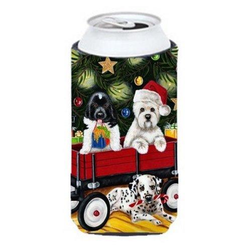 Christmas Westie  Newfoundland  Dalmatian Tall Boy Can cooler Hugger