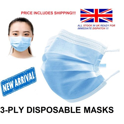 Triple Layer Protective 3ply Disposable Face Masks