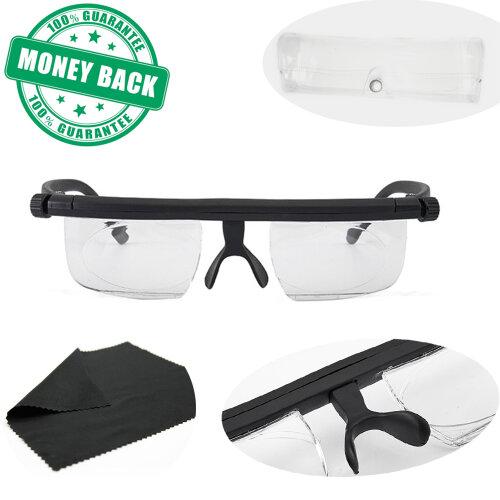 (⭐⭐⭐⭐⭐Instant 20/20 Adjustable Glasses with Transparent Glasses Box - Unisex Latest Upgraded Adjustable Eyewear Instant 2) Adjustable Variable Focus Reading Driving Glasses
