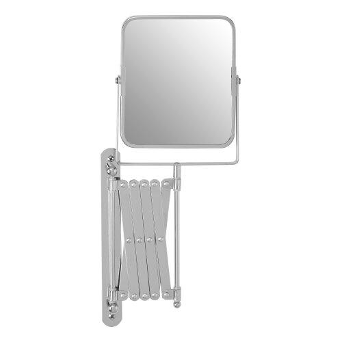 Premier Housewares Square Wall Mirror Silver Frame Long Wall Mounted Extending Mirrors 17 x 44 x 38