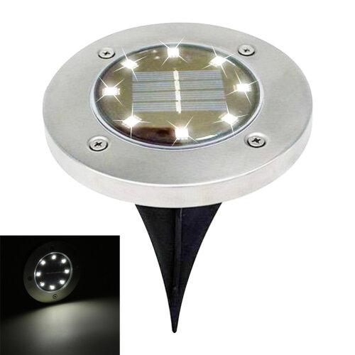 (White) 4pc LED Solar Decking Lights