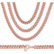 Cuban Chain Necklace,Trendy Jewelry Curb Necklace