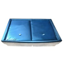 vidaXL Waterbed Mattress Set with Liner and Divider 200x220cm F3 Hardside Pad
