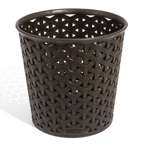 Curver dark brown My Style Storage Basket Round Polypropylene, 14,4x14,4x14cm, EF505729