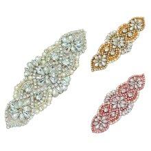 rhinestones embellishment motif patch sew on or iron on beads diamante applique