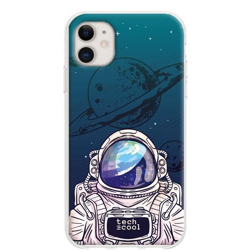 Phone case Iphone 11 TPU Silicone Astronaut Galaxy Blue Background