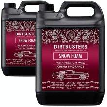 Dirtbusters cherry Snow Foam shampoo cleaner with high gloss wax 2 x 5