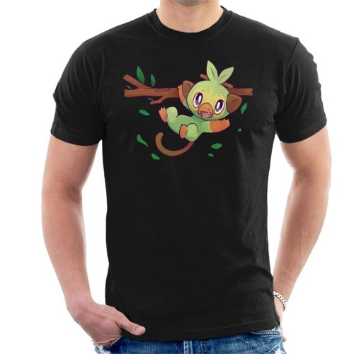 Pokemon Grookey Sword Shield Starter Men's T-Shirt