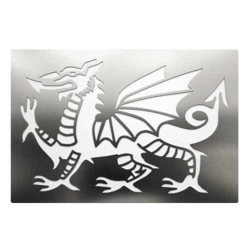 Welsh Dragon Stainless Steel Crafting Stencil 10.8cm x 7cm