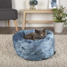 Scruffs Pet Bed Velvet Blue Small Animals Pet Supply Dog Cat Nest Puppy Mat