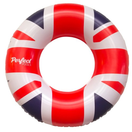 Official 'Perfect Pools' Inflatable Giant UK Flag Rubber Ring | Union Jack Rubber Ring