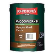 5 LTR JOHNSTONE'S WOODWORKS OPAQUE WOOD FINISH SATIN WHITE