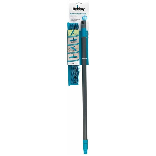 Beldray Rubber Bristled Broom Long Handled Squeegee & Scrubber Pet Hair Removal