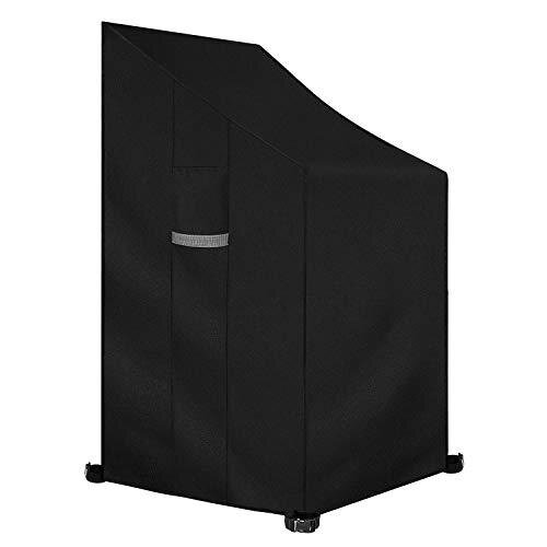 Dokon Patio Stacking Chair Cover with Air Vent, Waterproof, Windproof, Anti-UV, Heavy Duty Rip Proof 600D Oxford Fabric Reclining Garden Chair Cover
