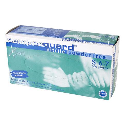 Semperguard G816780633 Industrial Nitrile Glove Powder Free-Non Sterile-S (100)