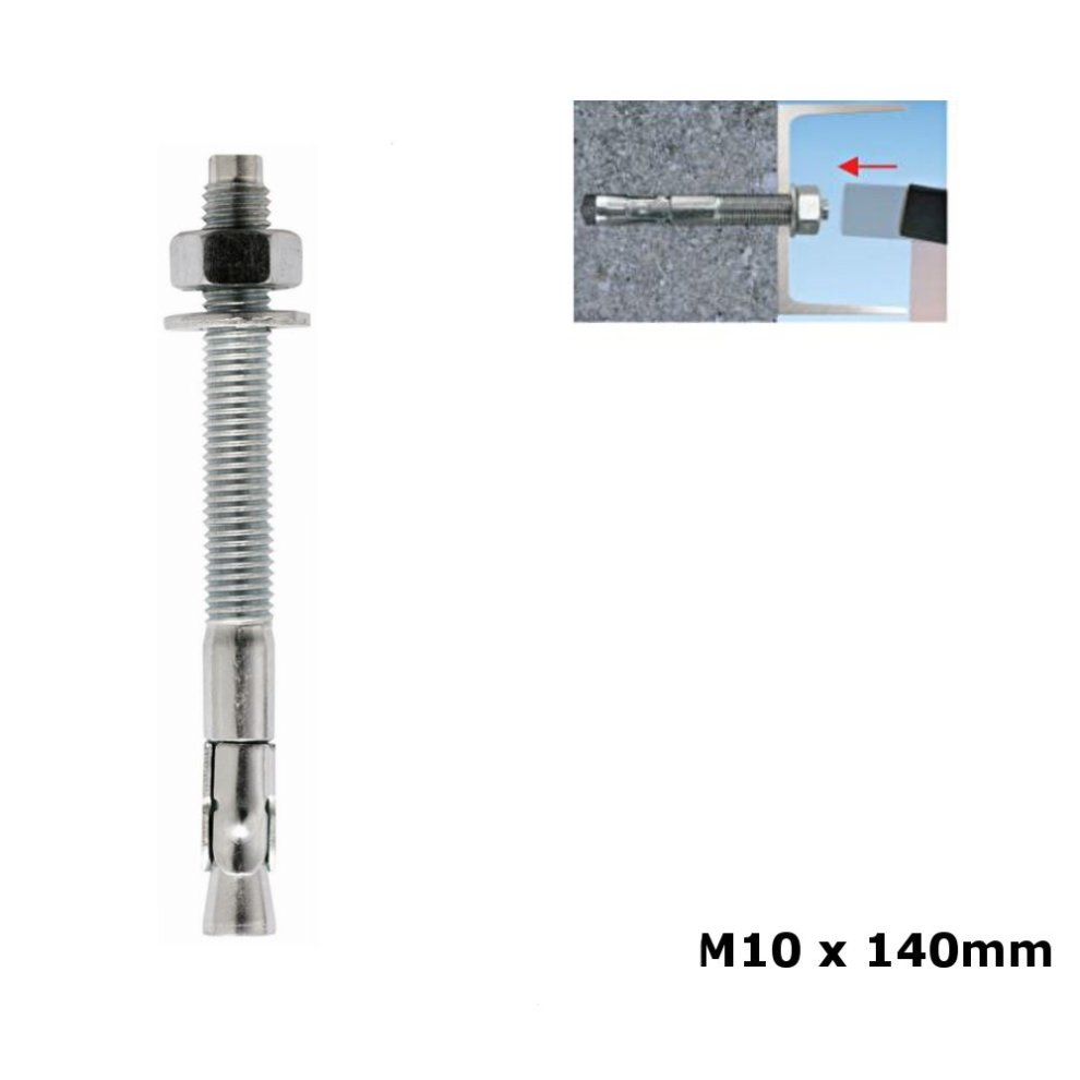 10 x DROP IN ANCHORS M10 Masonry Concrete Brick Wall Setting Fixing Tool Zinc