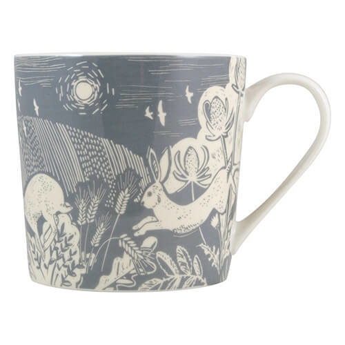 English Tableware Company Artisan Fine China Blue Hare Mug