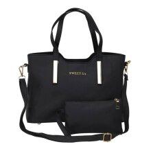 2pcs/set Women Handbag Messenger Leather Shoulder Bag Tote Pur