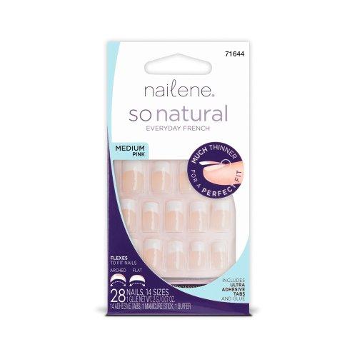 Nailene So Natural Ultra Flex Pink French Medium Nails