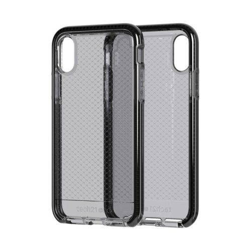 Tech21 Evo Check Impact Phone Case Cover for Apple iPhone X / XS - Smokey / Black