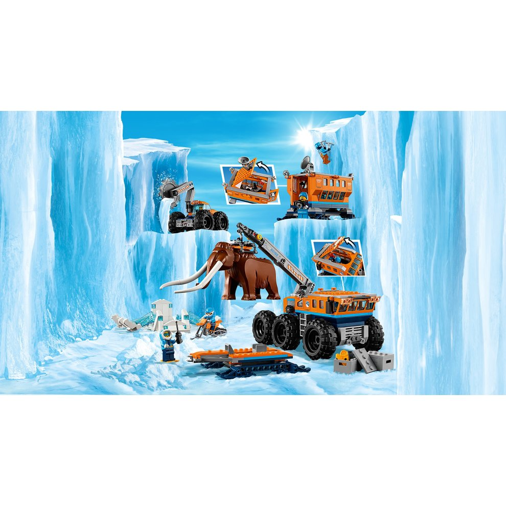LEGO 60195 City Arctic Mobile Exploration Base Toy Crane Vehicle Platform an...