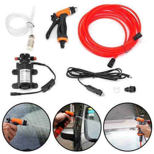 12V Car Washer Portable Water Pump Kit Sprayer Hose Van High Pressure
