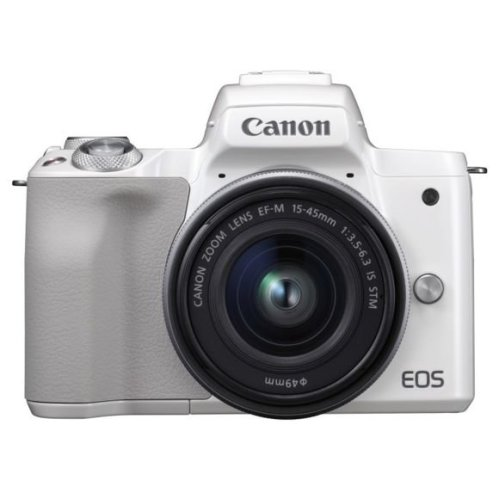 CANON EOS M50 White KIT EF-M 15-45mm F3.5-6.3 IS STM Silver