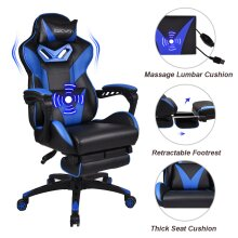 ELECWISH Gaming Chairs Massage Large Video Gaming Chairs with Footrest