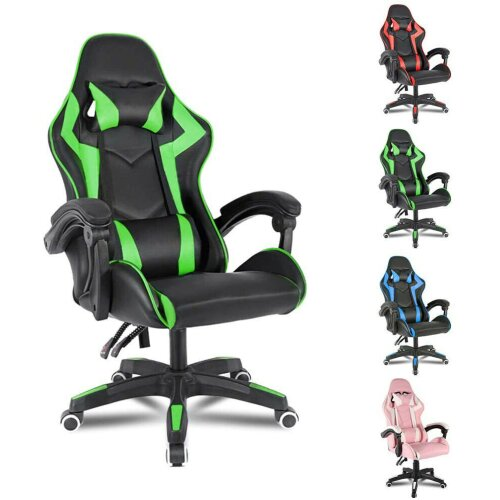 Bigzzia Ergonomic Leather Computer Gaming Seat   Adjustable Office Chair
