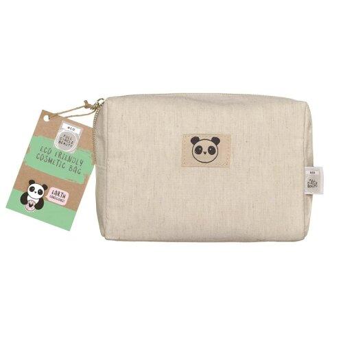 Danielle Eco Friendly Small Bamboo Cosmetic Bag -  Panda Design