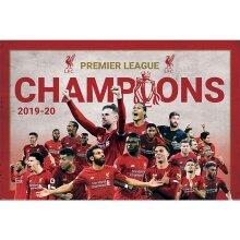 Liverpool FC Premier League Champions Team Poster
