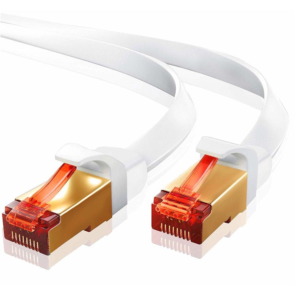 Mcab CAT7 PIMF S-FTP LSZH- WHI 0,50 M Ethernet Cable 0.5 M White
