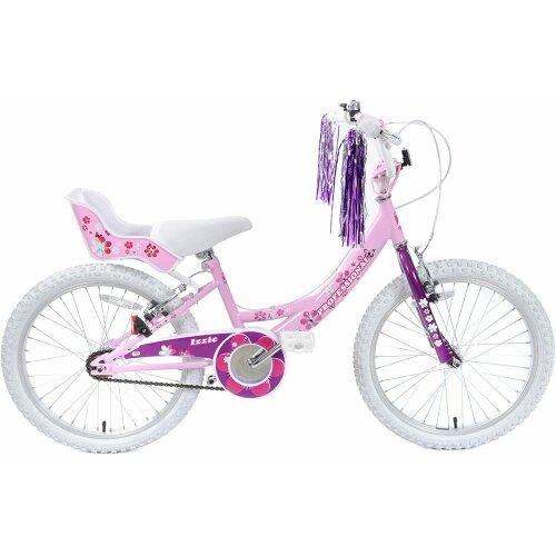 "Izzie 18"" Wheel Pretty Pink Girls Bike Bicycle & Dolly Seat Streamers"