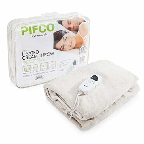 PIFCO PE151 Heated Throw,Machine Washable & Overheat Protection,Double