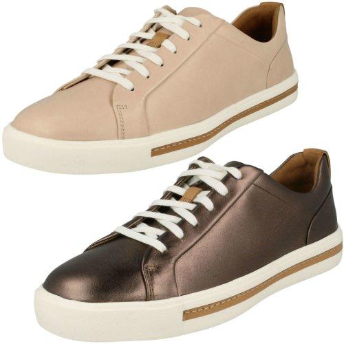 Ladies Clarks Stylish Lace Up Shoes Un Maui Lace - D Fit