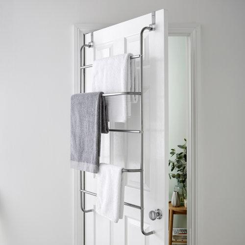 5 Tier Over Door Clothes Airer Towel Rack