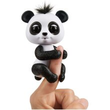 Fingerlings Glitter Panda -  Drew (White & Black) - Interactive Collectible Baby Pet - By WowWee