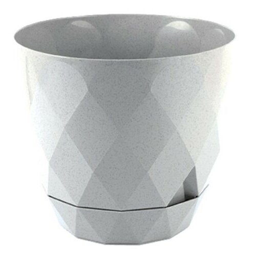 Light Grey Diamond Shape Modern Large Plant Pot Indoor / Outdoor 4.8 Litre Plant