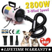 2800W Fast Dry Pet Hair Dryer Cat Dog Blaster Heater Grooming Blower