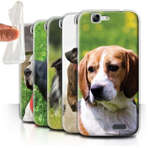 Popular Dog/Canine Breeds Huawei Ascend G7 Phone Case Transparent Clear Ultra Soft Flexi Silicone Gel/TPU Bumper Cover for Huawei Ascend G7