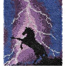 Flash Horse Rug Latch Hooking Kit (64x48cm blank canvas)
